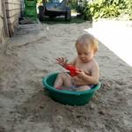 Наш пляж в жаркие будни)