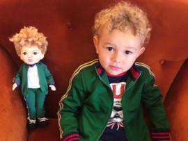 Необычно: сыну Юрия Жиркова подарили куклу-близнеца