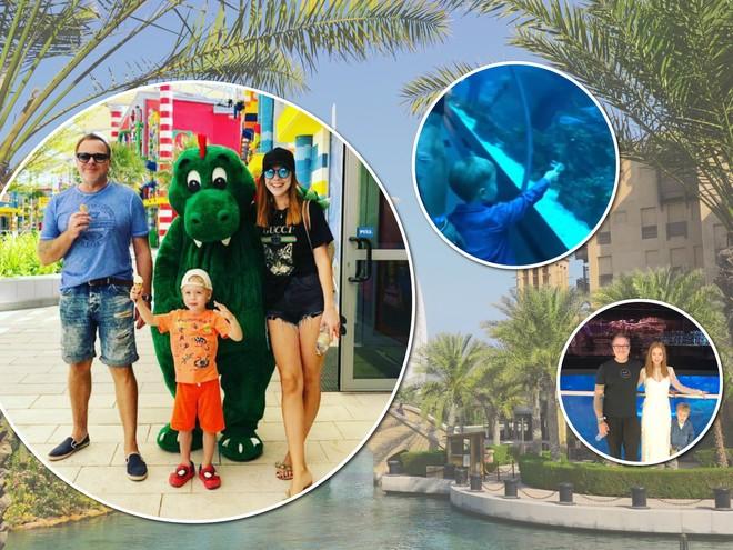 Леголенд и океанариум: Владимир Пресняков и Наталья Подольская с сыном в Дубае