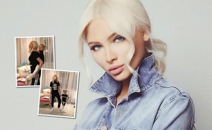Хочу, как мама: модель Алена Шишкова учит маленькую Алису красиво позировать