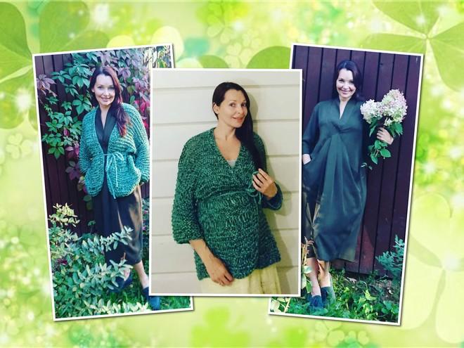 Цвет настроения — зеленый: стиль беременной Наталии Антоновой