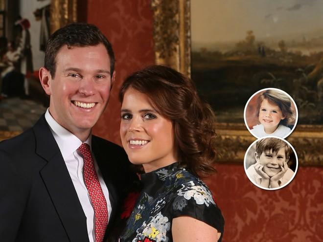 Неожиданно: принцесса Евгения и ее жених перед свадьбой опубликовали детские фотографии