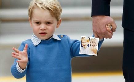 Принц Джордж поразил всех улыбкой, как у принцессы Дианы