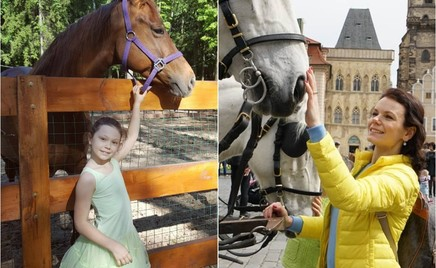 Маленькая амазонка: дочка Марии Петровой не может прожить без лошадей ни дня