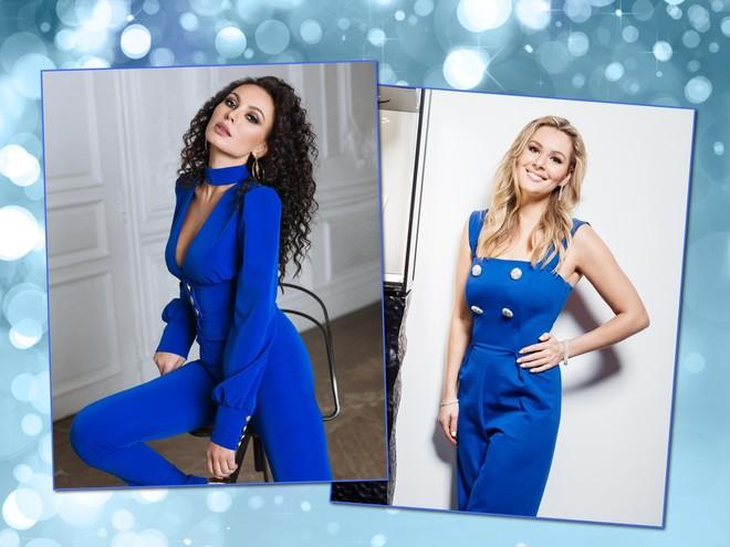 Цвет настроения – синий: звездные мамы Мария Кожевникова и Инна Жиркова в комбинезонах