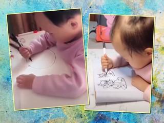 Невероятно: малышка рисует фломастером лучше многих взрослых