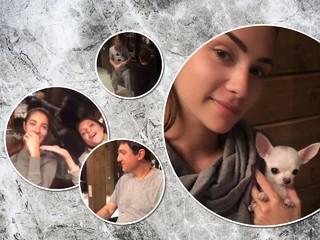 Все в сером: Анастасия Шубская показала family look с семейного вечера