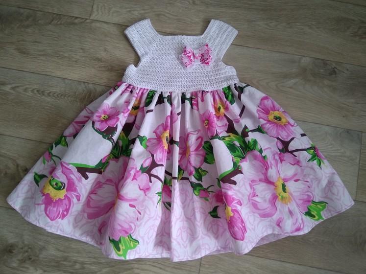 Девочки, кто за то, чтобы повязать? Предлагаю комбинированное платье.
