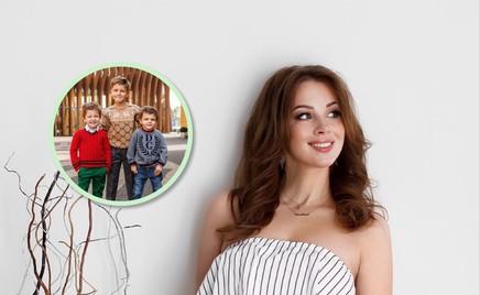 Трое из ларца: Полина Диброва показала, как похожи между собой дети