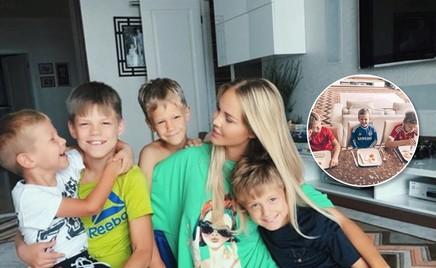 Видео: Мария Погребняк учит сыновей готовить яичницу-глазунью