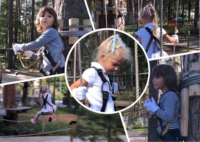 Гарри и Лиза Галкины покорили веревочный парк