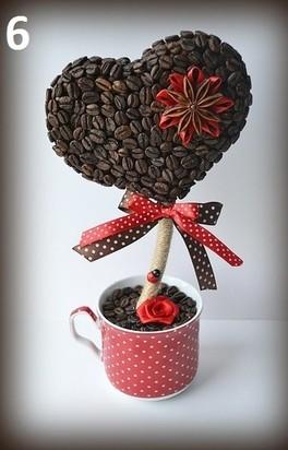 Идеальный топиарий из кофейных зёрен