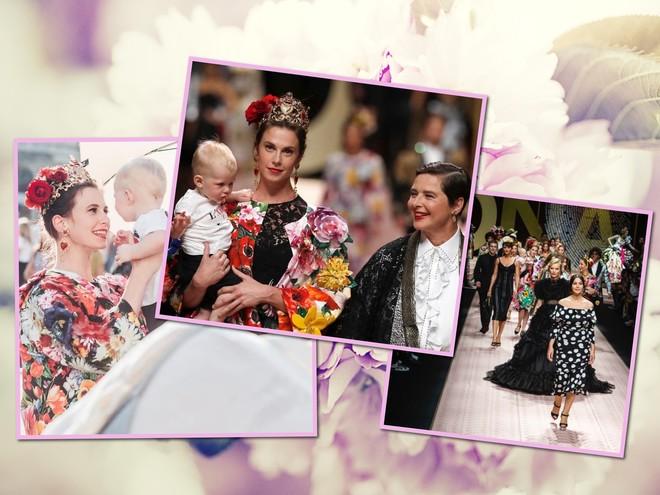 Семейные узы: на модном показе по подиуму прошлись звезды с детьми