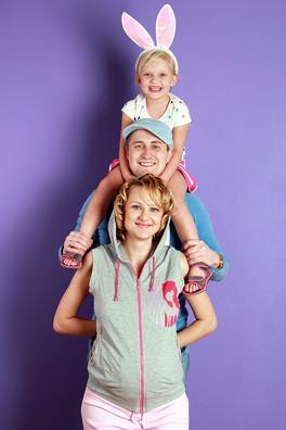 Фотосессия очаровательной семьи г. Москва