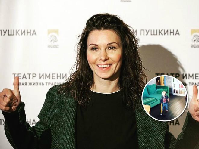 Хозяйственный мужчина: Александра Урсуляк показала видео с годовалым сыном