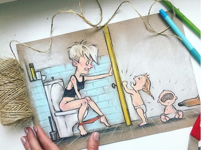 Правда в картинках: рисунки о том, как быть мамой