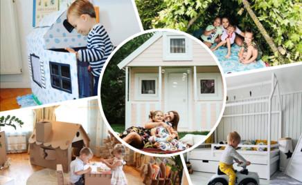 От простого к сложному: 10 идей детских домиков