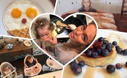 Доброе утро: какие завтраки готовят звезды своим детям