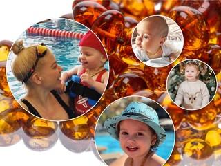 Модный тренд у родителей: янтарные бусы для детей