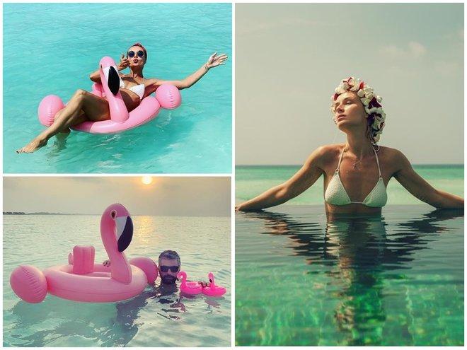 Полина Гагарина и Дмитрий Исхаков на Мальдивах