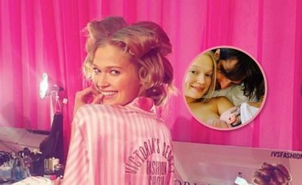 Одна за другой: еще одна модель Victoria's Secret стала мамой