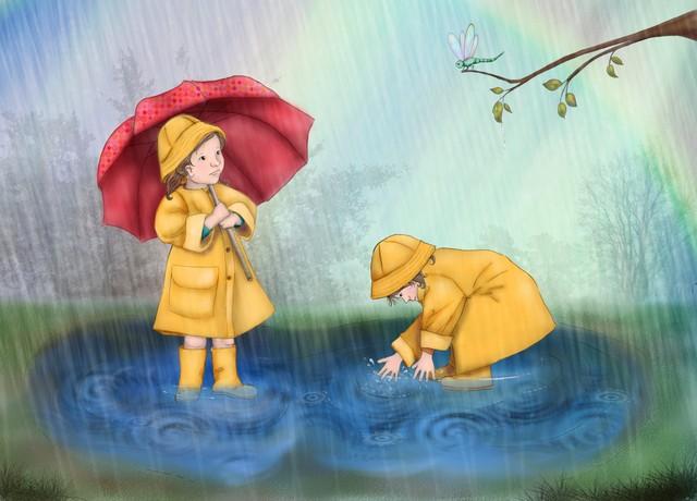 """Набор на конкурс """"Нам погода нипочем, мы гуляем под дождем"""""""