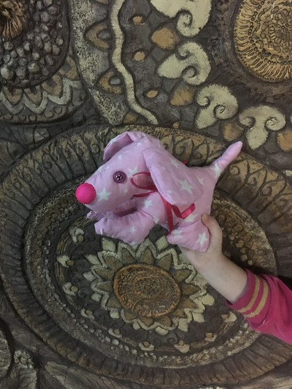 Каркасная собака. Работа дочери в 5 лет