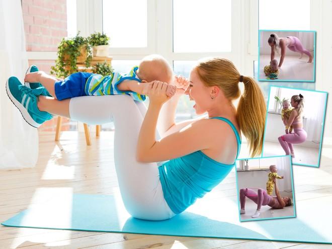 7 упражнений для похудения, которые можно делать во время игры с ребенком