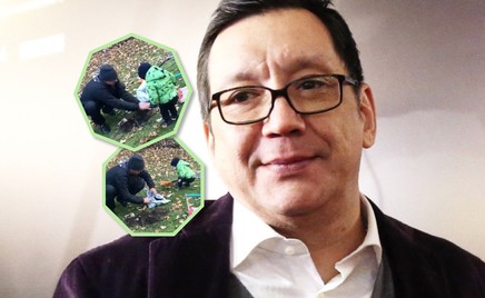 Видео: Егор Кончаловский с сыном сажают дерево