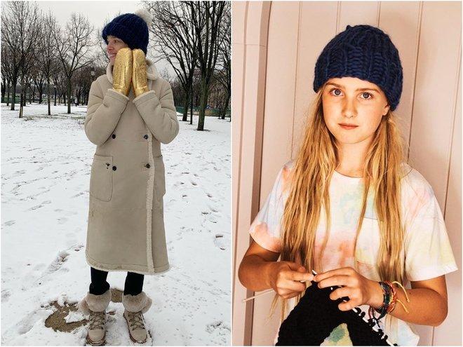 Наталья Водянова и ее дочка Нева