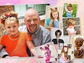 Папа создает для дочки невероятно красивые прически