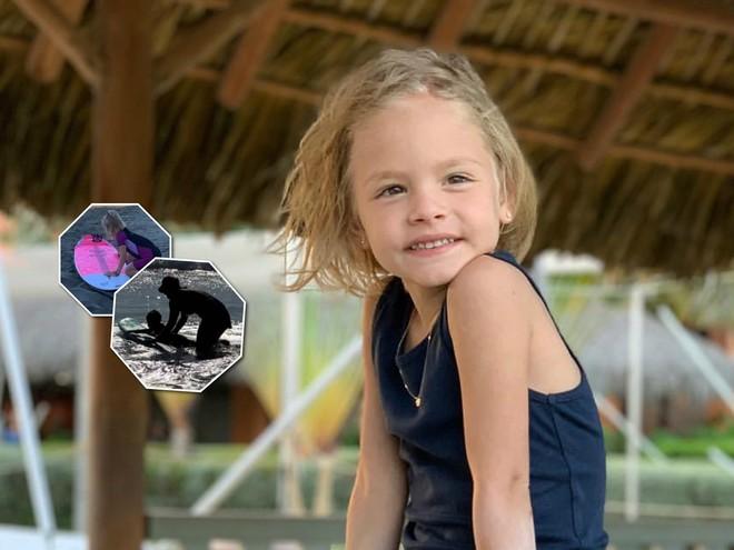 4-летняя дочь Тимати покоряет волны на розовой доске
