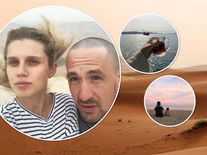 Селфи из пустыни: беременная Дарья Мельникова и Артур Смольянинов