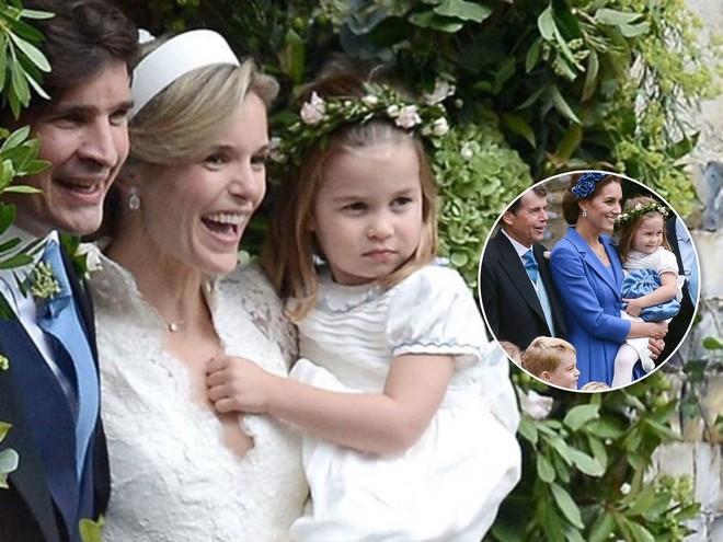 Принцесса Шарлотта стала подружкой невесты на свадьбе крестной