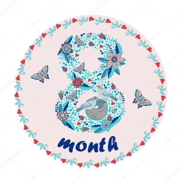 8 месяцев малышу картинки поздравления